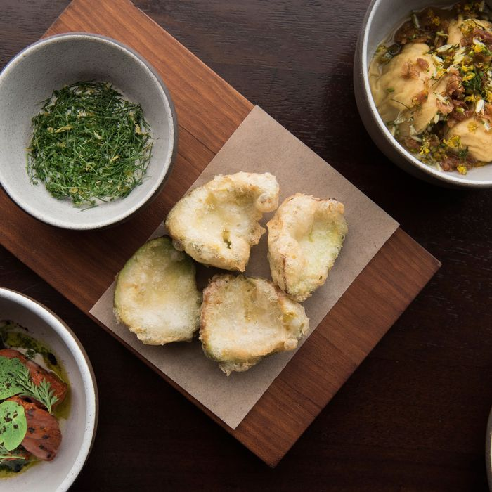 Dishes from the California chef's upcoming restaurant, the Charter Oak.