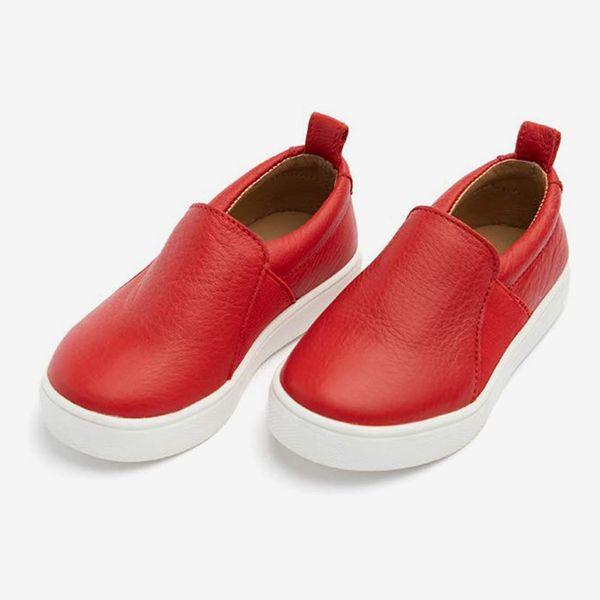 Freshly Picked Kids' Leather Slip On Sneaker