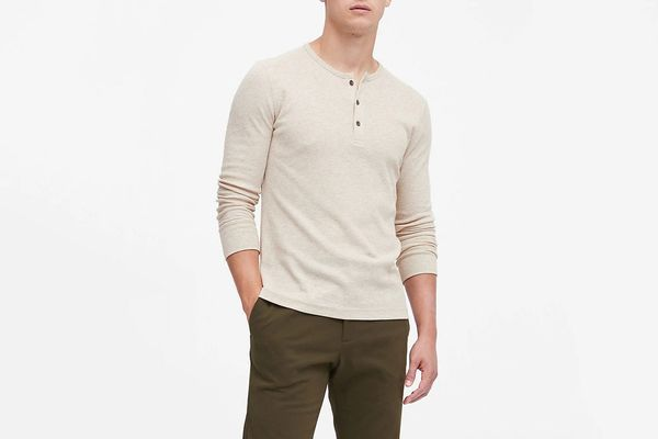 Banana Republic Core Temp Waffle-Knit Henley