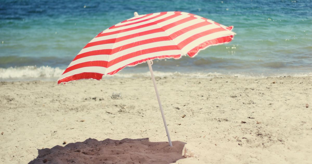 Beach Umbrella In People Keep Getting Impaled By Beach Umbrellas