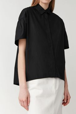 COS Voluminous Shirt with Gathered Sleeves