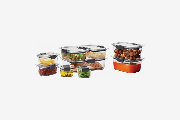 Rubbermaid Brilliance Food Storage Container Set, 18-piece, Clear