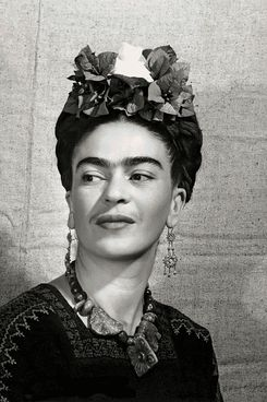 <em>Frida Kahlo with Flowers in Her Hair</em>, portrait by Bernard Silberstein, c. 1940.