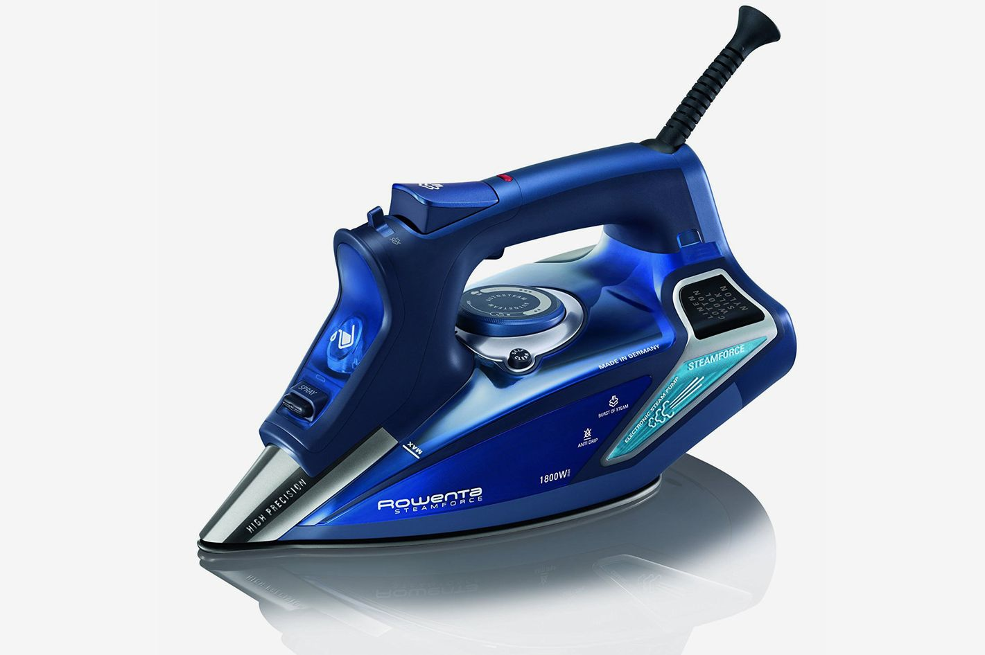 Rowenta DW9280 Steam Force Professional Digital LED Display Iron With Stainless Steel Soleplate