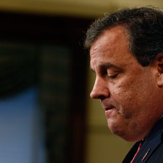 New Jersey Gov. Chris Christie speaks about his knowledge of a traffic study that snarled traffic at the George Washington Bridge during a news conference on January 9, 2014 at the Statehouse in Trenton, New Jersey. According to reports Christie's Deputy Chief of Staff Bridget Anne Kelly is accused of giving a signal to the Port Authority of New York and New Jersey to close lanes on the George Washington Bridge, allegedly as punishment for the Fort Lee, New Jersey mayor not endorsing the Governor during the election.