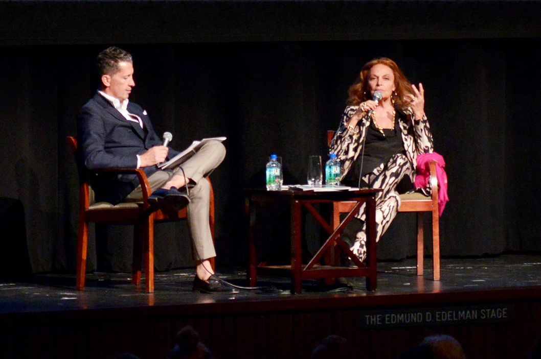 LACMA's Costume Council hosts Diane von Furstenberg and Stefano Tonchi in conversation