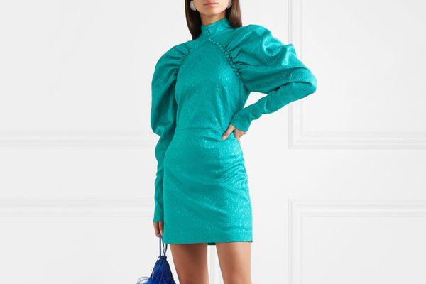 Rotate Birger Christensen Snake-Jacquard Mini Dress