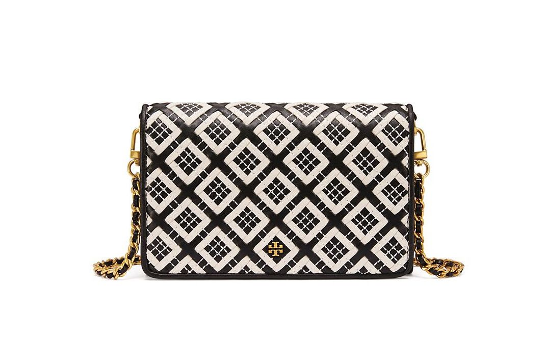 Robinson Woven-Leather Chain Wallet