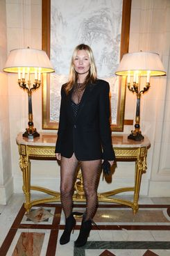 Kate Moss attends the 'CR Fashion Book Issue 2' - Carine Roitfeld Cocktail as part of Paris Fashion Week at Hotel Shangri-La on March 5, 2013 in Paris, France.