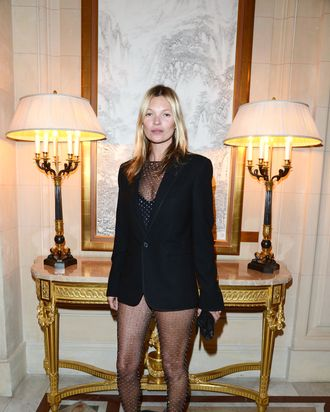 Kate Moss in Saint Laurent by Hedi Slimane.