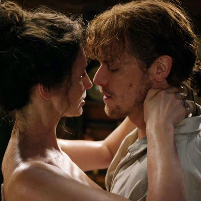 Caitriona Balfe and Sam Heughan in