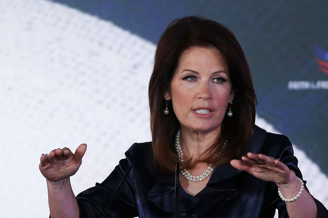 Rep. Michele Bachmann (R-MN) speaks at the Faith & Freedom Coalition conference, June 14, 2013 in Washington, DC. The Faith and Freedom Coalition is a group created by former Christian Coalition leader Ralph Reed, designed to strengthen the evangelical influence in national politics.