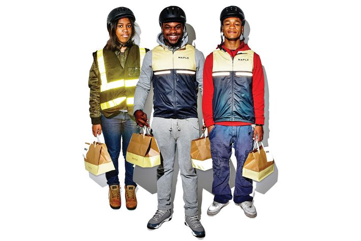 A trio of Maple deliverypeople.