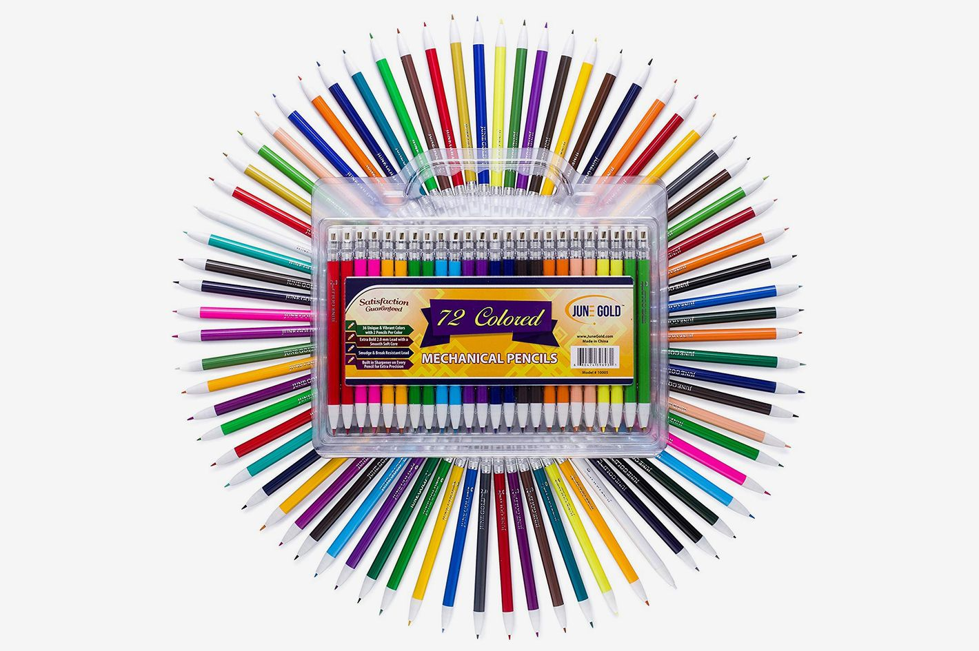 June Gold 72 Assorted Colored Mechanical Pencils
