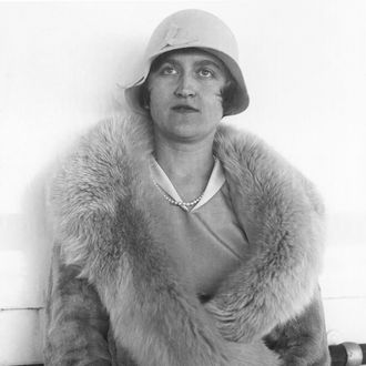 This Aug. 11, 1930 file photo shows Mrs. Huguette Clark Gower, daughter of the late Sen. William A. Clark of Montana, a copper magnate, in Reno, Nev.