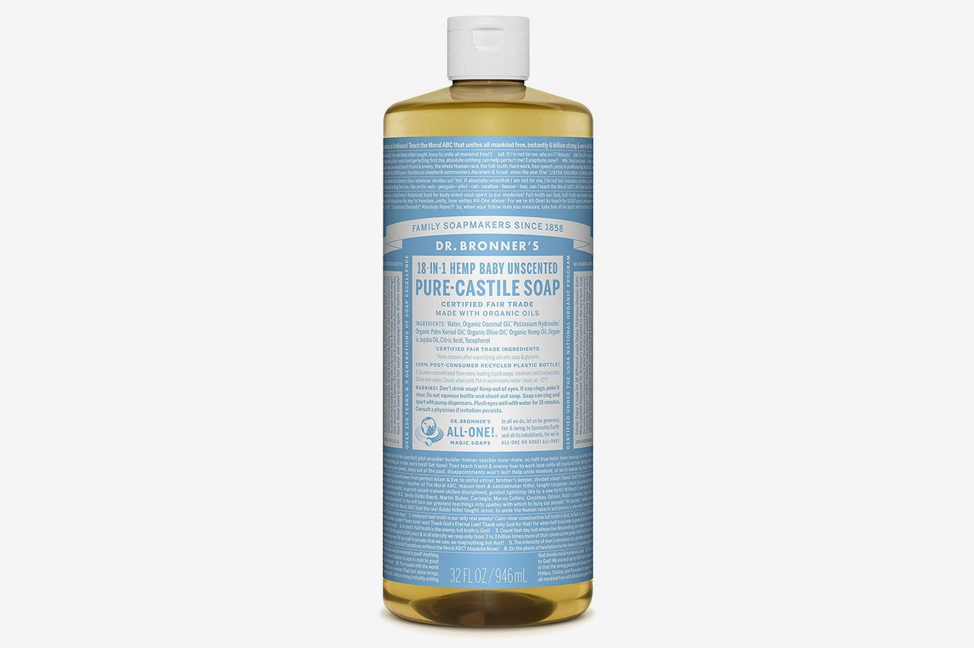 Dr. Bronner's Pure Castile Baby Liquid Soap