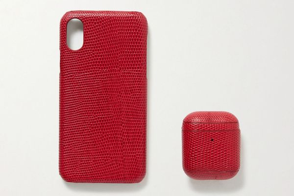 The Case Factory Lizard-Effect iPhone X and AirPods Case