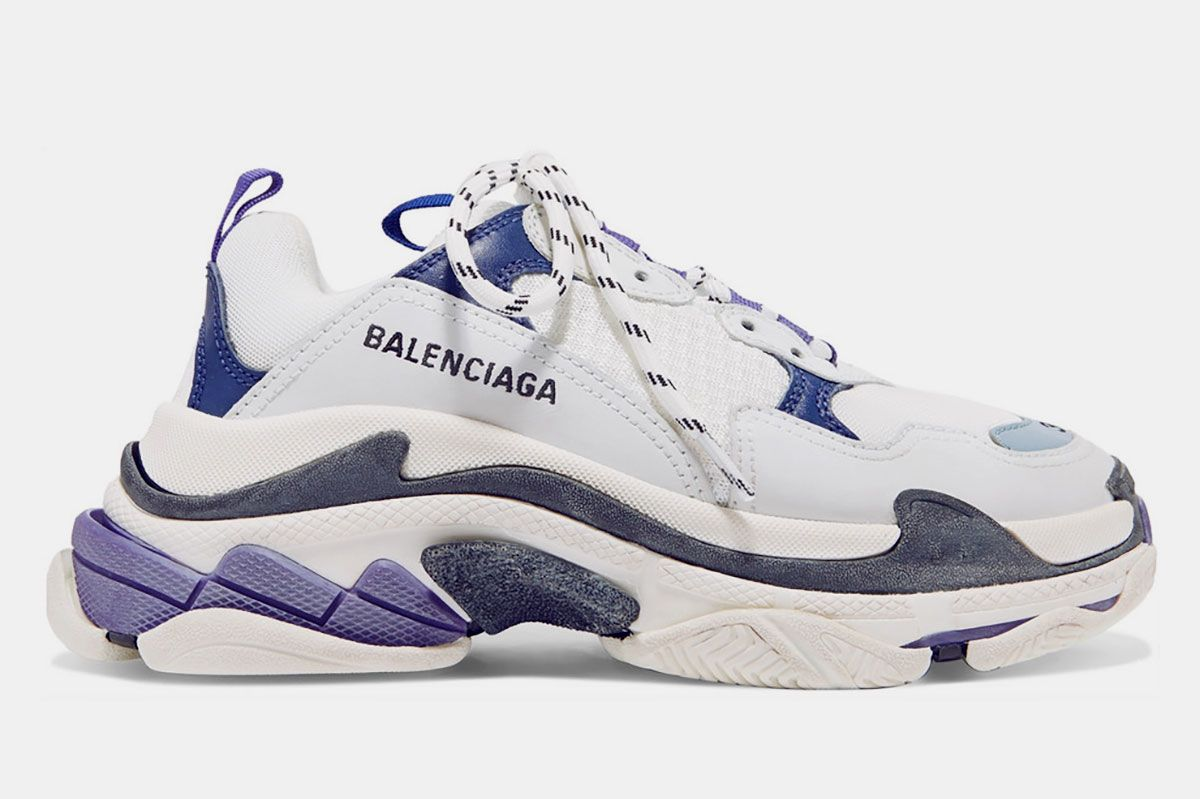 9dc37c31b854d Balenciaga Triple S logo-embroidered leather
