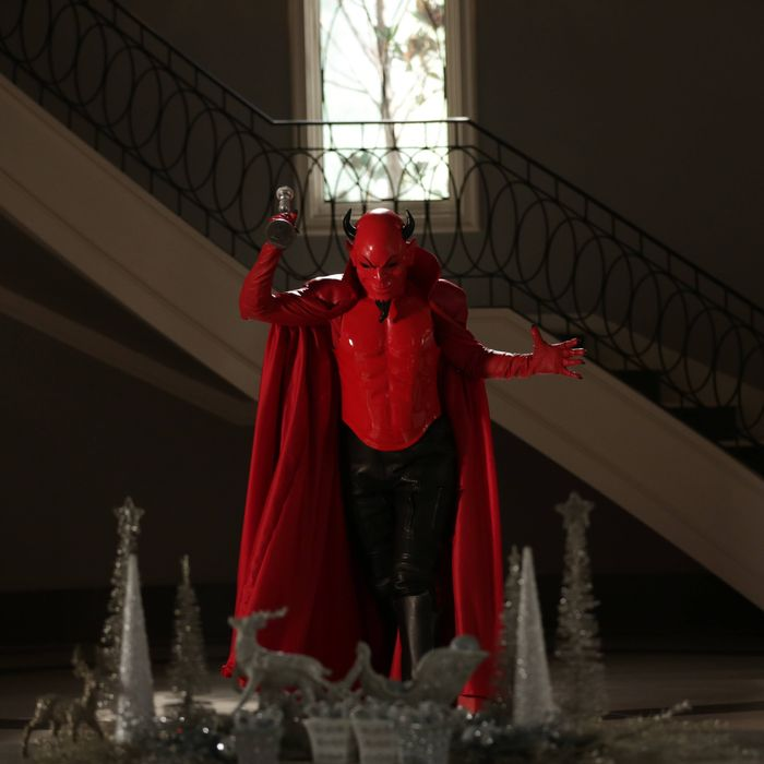 SCREAM QUEENS: The Red Devil in the first part of the two-hour