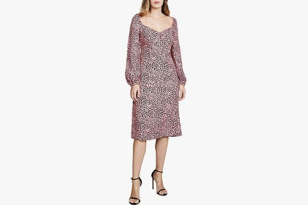 re:named Women's Amanda Leopard Midi Dress