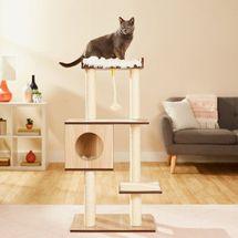 Frisco 47.5-in Modern Cat Tree & Condo