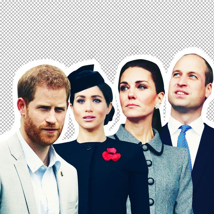 Prince Harry, Meghan Markle, Kate Middleton and Prince William.