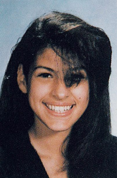 Here Is Hollywood Actress Eva Mendes As A Fresh Faced Teenager In Her High School