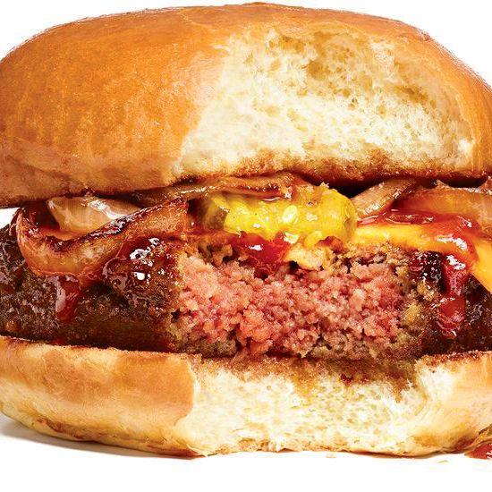 A real photograph of a real fake burger. (The Dodo.)