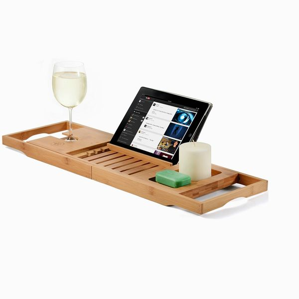 Bamboo Bathtub Tray Caddy
