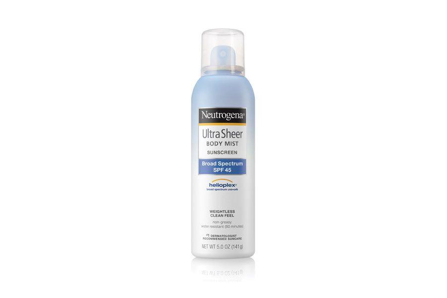 Neutrogena Ultra Sheer Body Mist Sunscreen Broad Spectrum SPF 45