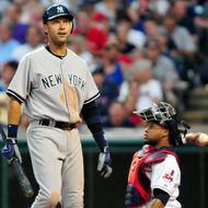 CLEVELAND, OH - JULY 6: Derek Jeter #2 of the New York Yankees reacts while at bat during the sixth inning against the Cleveland Indians at Progressive Field on July 6, 2011 in Cleveland, Ohio. The Indians defeated the Yankees 5-3 to take the series 2-1. (Photo by Jason Miller/Getty Images)
