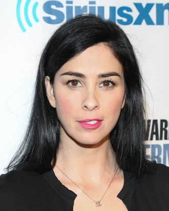 NEW YORK, NY - JANUARY 31: Sarah Silverman attends SiriusXM's