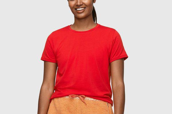 Outdoor Voices Merino T-Shirt (Goji Berry)