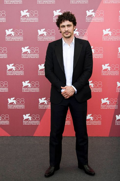 "James Franco Poses at a photocall for the movie ""Sal"" at the 68th Festival of Cinema in Venice."
