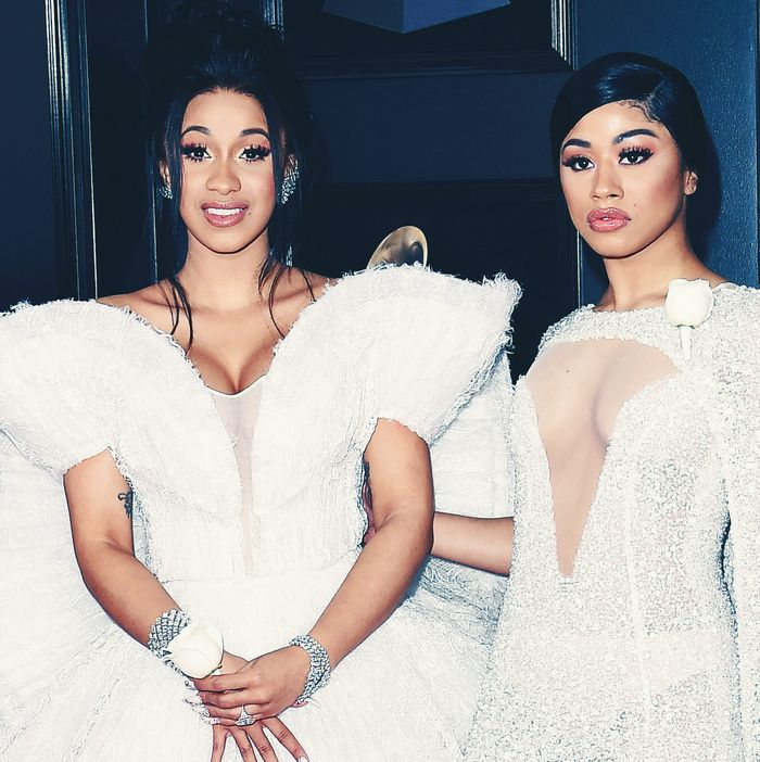 Cardi B and her sister, Hennessy.