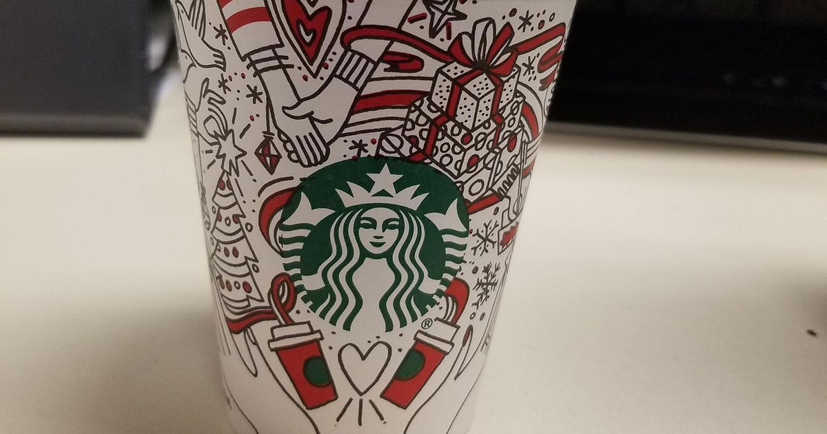 starbuckss 2017 holiday cups have a safe christmassy doodle