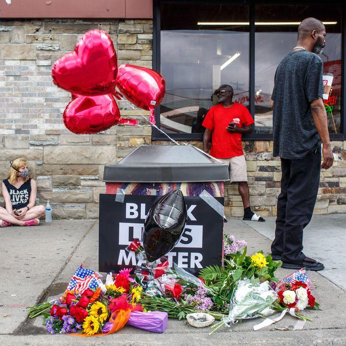 Memorial for George Floyd in Minneapolis.