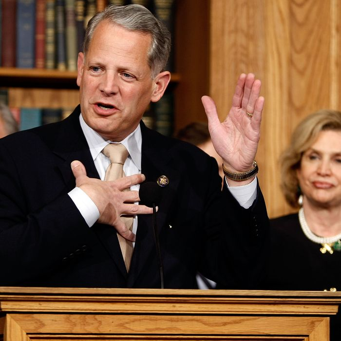 WASHINGTON - MARCH 17: Rep. Steve Israel (D-NY) (L) and Congressional Joint Economic Committee Chair Carolyn Maloney (D-NY) announce legislation that would use the tax code to punish executives who receive large bonuses after being bailed out by the federal government during a news conference at the U.S. Capitol March 17, 2009 in Washington, DC. Titled the Bailout Bonus Tax Bracket Act of 2009, the legislation would tax 100-percent bonuses over $100,000 disbursed to employees of companies receiving Trouble Asset Relief Program (TARP) funds. (Photo by Chip Somodevilla/Getty Images) *** Local Caption *** Carolyn Maloney;Steve Israel