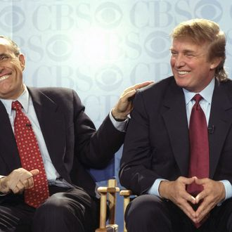 Rudy Giuliani and Donald Trump in 1999