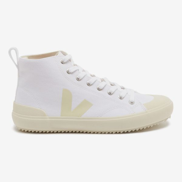 VEJA Nova V-logo organic-canvas high-top trainers