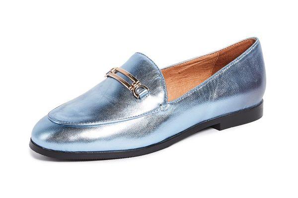 Matiko Leslie Metallic Loafers