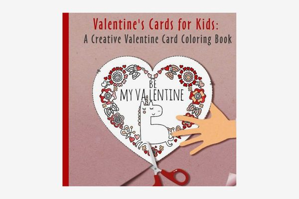 Valentines Cards for Kids: A Creative Valentine Card Exchange Coloring Book