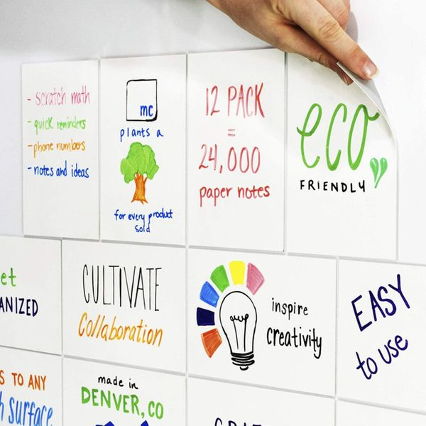 mcSquares Stickies Dry-Erase Sticky Notes