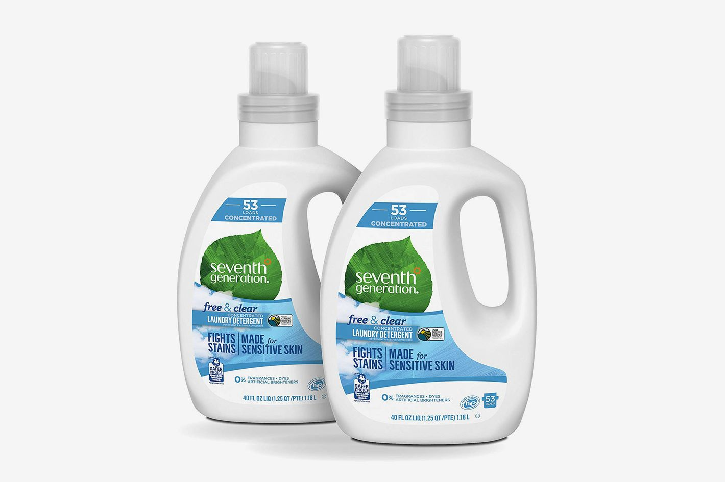 Seventh Generation Concentrated Laundry Detergent, Free and Clear Unscented, 2-Pack