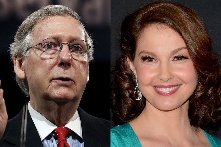 Sen. Mitch McConnell and Ashley Judd
