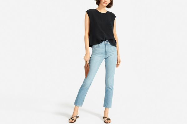 Everlane Silk Square Muscle Top
