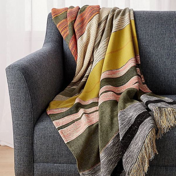 Crate and Barrel Carreno Multicolored Throw