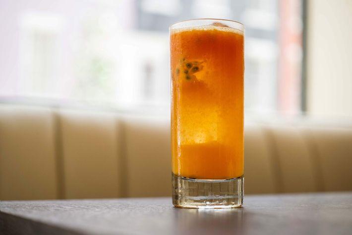 Aperitivo No. 1: Altos Blanco, aperol, Lillet, passion fruit, clementine, mango, prosecco.
