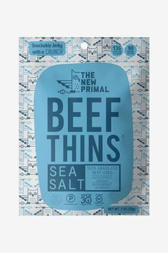 The New Primal Sea Salt Beef Thins, Grass-Fed Beef Jerky