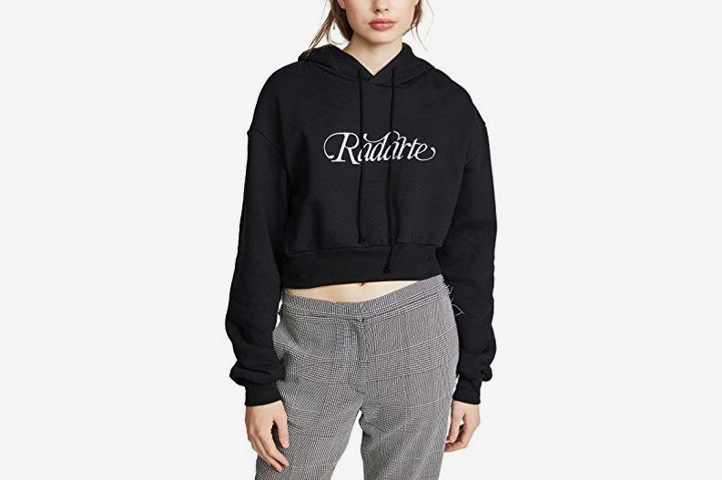 Rodarte Cropped Radarte Hoodie